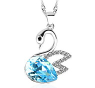 Necklace Pendant Necklaces / Pendants Jewelry Daily / Casual Fashionable Crystal Blue / Gray / Pink 1pc Gift