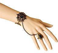 Fashion Spider Web Ring Bracelet Jewelry Set