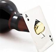 nuevo estilo venta caliente 1pc de juego de póquer tarjeta de as de picas herramienta de la barra de regalo abrelatas de la cerveza de