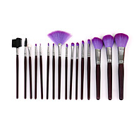 16 Pink Fur Brush Set Beauty Makeup Brush Tool