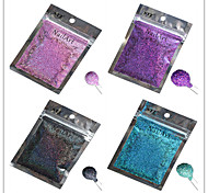 1pcs Nail Art Beautiful Color Colorful Laser Glitter Powder Nail DIY Decoration L13-16