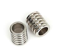 beadia 5pcs Edelstahl 11x9mm Spacer Perlen für Schmuckherstellung (6 mm Loch)