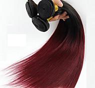 1 шт прямые человеческие волосы переплетаются с бразильской текстурой, человеческие волосы пряжу прямо