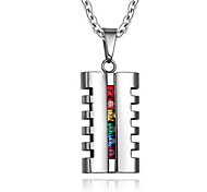 Necklace Pendant Necklaces / Pendants Jewelry Daily / Casual Fashionable Titanium Steel Silver 1pc Gift