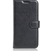 Ganzkörper Brieftasche / mit Ständer / Flip Einheitliche Farbe PU - Leder Weich Wallet type bracket / flip / mobile phone shell