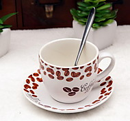 200ml Ceramic Matte Coffee Cup Set with Coffee Dish