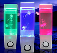 (Jelly White) Creative Mini USB Aquarium Volcano Lamp Electronic LED Nightlight Desk Lamp