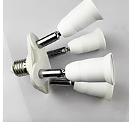 E27 to 4 E27 LED Bulb Socket Adapter
