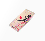 dpt® Butterfly Girl Logo TPU Soft Back Cover for iPhone 6s 6 Plus