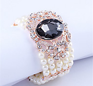 Queen of Europe and Korean fashion diamond bracelet female wide