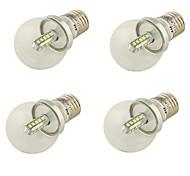 4W E26/E27 Bombillas LED de Globo A60(A19) 20 SMD 2835 360 lm Blanco Fresco Decorativa AC 100-240 / AC 110-130 / AC 85-265 V 4 piezas