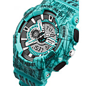 SANDA® Men's Camouflage Fashion Sport Analog Digital Double Time Waterproof Quartz Watch Fashion Wrist Watch Cool Watch