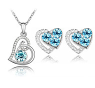 Z&X® Austrian Crystal Necklace Earrings Piece