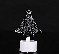 10pcs/Pack Colorful Christmas Tree LED Candles Night Light