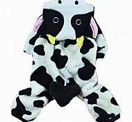 Cat / Dog Costume / Clothes/Jumpsuit Black / White Winter / Spring/Fall Animal Halloween, Dog Clothes