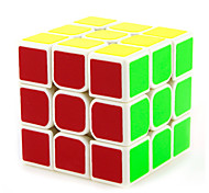 Yongjun® Smooth Speed Cube 3*3*3 Flourescent / Professional Level Magic Cube Black / White Plastic