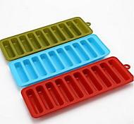 cylindrique treillis moule en silicone même 10 trous popsicles doigt biscuit moule en silicone treillis d-333 5pcs