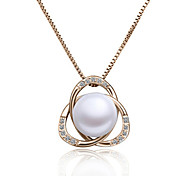 Z&X® Ball Flower Shape Diamond Pearl Necklace