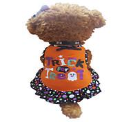 Hunde Kleider Orange Hundekleidung Sommer Gepunktet / Herzen