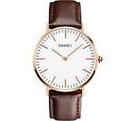 SKMEI® Men's Ultra Thin Japanese Quartz Leather Strap Casual Fashion Watch Fashion Watch Cool Watch