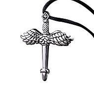 Винтажные крылья властная герой ожерелье литья меч титана
