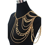 Women's Body Jewelry Belly Chain Body Chain Acrylic Fashion Golden Jewelry Daily Casual 1pc