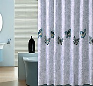 "Country Butterfly Pattern Shower Curtains W71""×L71"""