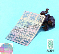 5pcs Hollow out Laser Pineapple Image Nail Manicures Art Paint Tips Decal Sticker Stencil Polish Template