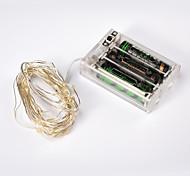 NO 4 M 40 LED Dip Bianco caldo / Bianco / Colori primari / Rosso / Giallo / Blu / Verde / Porpora / Rosa Impermeabile 4,5 W Fili luminosi
