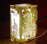 US Plug LED Creative Paper Carving 3D Decorative Christmas Night Light West Lake