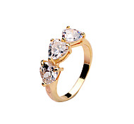 Zircon Fashion Ladies Ring copper gold color white gold rose gold gold