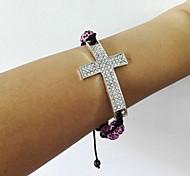 shamballa Bracelets rhinestone Crystal Bracelets with metal cross bracelet