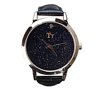 Women's Luxury Fashion Star Sky Dial Leather Band Quartz Watch
