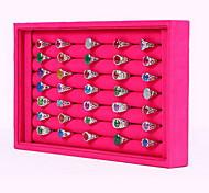Коробки для бижутерии Подставки для бижутерии Нейлон В форме квадрата Розоватый Черный и белый