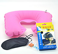 Travel Three Pieces Eye Mask , Flight Sleeping Pillow and Ear Plugs With Box