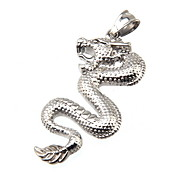 316L Stainless Steel Pendant Silver Dragon