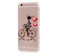 Kinston® Printed Bicycle Girls Pattern TPU Case For iPhone 7 7 Plus 6s 6 Plus SE 5s 5c 5 4s 4