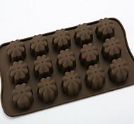 moules de chocolat de silicone même 15 trous fleurs moule en silicone gâteau au chocolat treillis d-308 5pcs