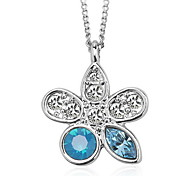 Necklace Pendant Necklaces / Pendants Jewelry Daily / Casual Fashionable Crystal White / Blue 1pc Gift