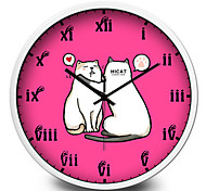 Cute Cartoon Cat Sleep Wall Clock