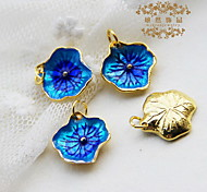 DIY Jewelry Blue Flower Style Alloy Charm