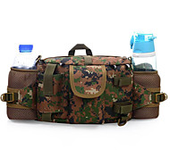 5 L Waist Bag/Waistpack Camping & Hiking Outdoor Waterproof / Multifunctional Army Green Nylon