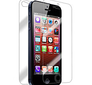 [4-Pack] Front and Back Retina Screen Protector for iPhone 5/5S