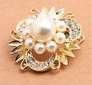 prix usine conception spéciale perles en alliage de mode en strass dame broches pour les femmes
