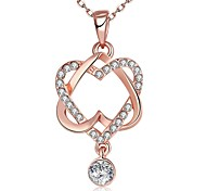 Necklace Pendant Necklaces Jewelry Wedding / Party / Daily / Casual Heart Fashionable Rose Gold 1pc Gift
