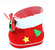 Mini Christmas Flocking Boots Candy Creative Small Gifts Candy Christmas Ornaments Decorate The Foreground Gift
