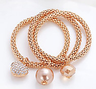 Bracelet/Charm Bracelets Alloy Fashionable Daily / Casual Jewelry Gift Gold / Rose,1pc