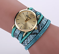 Damen Modeuhr / Armbanduhr / Armband-Uhr Quartz Armbanduhren für den Alltag Leder Band Leopard / Böhmische / CoolSchwarz / Weiß / Blau /