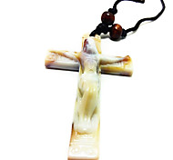 Cross Necklace Imitation Ceramic Bone Pendant Pendant Of Jesus Christ
