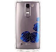 Back Pattern Flower TPU Soft Luxury Bronzing Case Cover For LG LG K10 / LG K8 / LG K7